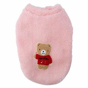 Fabater Tenue Respirante pour Animaux de Compagnie pour Petits Chats, Manteau Confortable pour Animaux de Compagnie, pour Un(Pink, M)