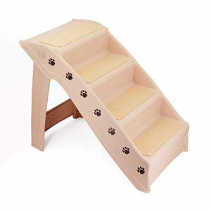 GNEGNIS Escaliers pour Animaux, Échelles légères Pliables en 4 étapes, escabeau pour Chien et Chat pour lit Mezzanine, Chaise, canapé, canapé, Camion, Voiture