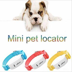 Jsmhh Pet Mini GPS Locator Collier, Collier for Chien imperméable for Les Grands Chiens, l'idéal Pet Tracker for Chien et Chat de Suivi