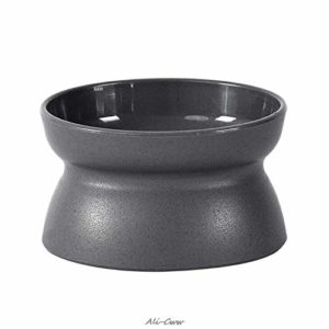 KSFBHC Autopetfeeder Raised Chaton d'aliments for Chats Bowl Stress Free Double Utilisation côté Alimentation Plat (Color : Grey)