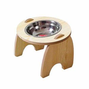 KSFBHC Élevé d'aliments for Chats Abreuvoir Cadre en Bois Slanted Pet Alimentation Spine Cuisine en Acier Inoxydable Distributeur Angle d'inclinaison Cat Protect (Color : A)