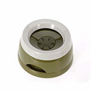 KSFBHC Gamelle for Animaux d'eau Boisson Mangeoire antidérapante Bowl Non Flottant Bouche Pas Mouillant Spill for Chien Chat Anti-Chute Bowl (Color : Green)
