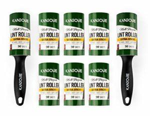 Lot de 8 Rouleaux Anti-Peluches pour Poils d'animaux de Compagnie 90 Feuilles par Rouleau