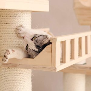 Maison Cat Animal De Compagnie Chat Après Chat Zéro Tree Towers Arbre Tour D'amusement Des Cabanes En Bois Chaise Longue Dormir Chat Lit Douillet Et Confortable Appartement Multi-niveaux Maison en boi