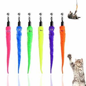 MAIYU Lot de 6 recharges de rechange pour baguette de chat, 6 couleurs