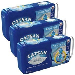 Mars GmbH Catsan Smart-Pack Sac à litière pour Chat Lot de3x 2Sacs