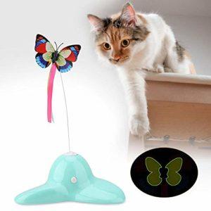 Nannday Jouet pour Chat Rotatif Rotatif Vert à 360 °, Jouet pour Chat ABS, pour Chat Teaser Jouet Jouet pour Chat Pet Kitty's Prey