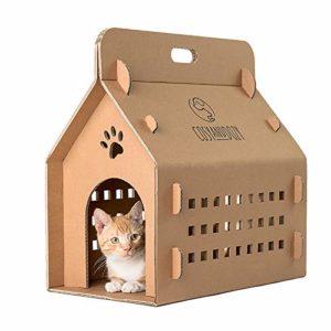 Niche pour chat – Griffoir en carton – Maison pour chat en carton ondulé – Carton – Chats