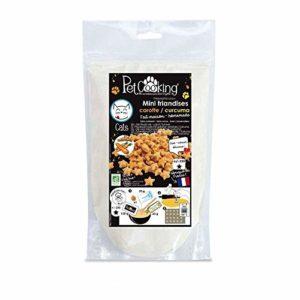 PetCooking – Préparation Mini-friandises Biscuits Carotte-Curcuma pour Chat – 150g