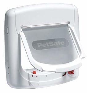PetSafe – Chatière Magnétique De Luxe Staywell pour Chat avec Système de Verrouillage à 4 positions – Facile à installer – Blanc