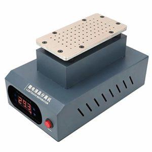 Plaque de cuivre brossé Séparateur tactile LCD Chauffage rapide Trous de refroidissement à forte absorption pour téléphone(European standard 220V)
