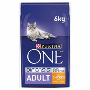Purina One Nourriture Sèche pour Chat Adulte, Poulet et Grains Entiers – 6 kg