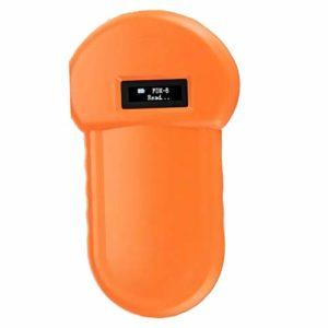 QMZDXH Scanner de Puce d'animal Familier, ISO FDX-B 134.2 KHz Lecteur de Puces Animaux, écran LCD, Analyseur d'animal de Poche Microchip