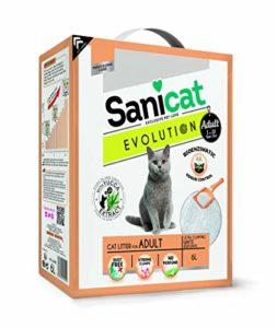 Sanicat – Litière agglomérante Evolution pour Chat Adulte 6L