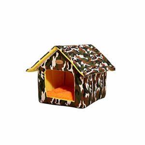 seraphicar Pet House, Pet Nest Shelter Kitty House Semi-fermé Cat Shelter Pet Products, Lavable Hiver Coussin Épais Warm Pet House Pet Villa Cat Nest Tent Cabin Shelter to Keep Warm