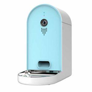 WLDOCA 6L Distributeur Croquette Automatique de Nourriture pour Animaux de Compagnie avec Caméra Rappel Vocal et Programmateur, Animaux pour Chats/Chiens de Petite ou Moyenne,Lightblue