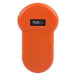 Yisentno Scanner Portable d'étiquette de Lecteur de Reconnaissance de micropuce Animale RFID 134.2Khz