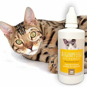 Emma ® Eye Cleaner I Eye Care for Cats I Nettoyage Doux et délicat des Yeux I Enlève la saleté et la poussière en Douceur I 100 ML