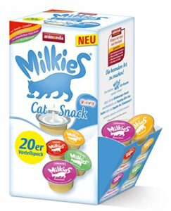 Milkies d'animonda, portions de lait pour chat, Variety, 4 x 20 portions de 15 g
