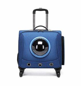 SELEZIONE Sac de transport universel pour animal domestique avec roues de 45,7 cm Bleu