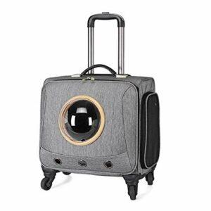 SELEZIONE Sac de transport universel pour animal domestique avec roues de 45,7 cm Gris