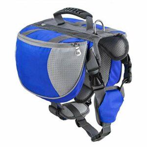WWWL Sac à dos pour animal domestique – Sac à dos de taille moyenne et grande – Pour randonnée, camping, dressage – Bleu
