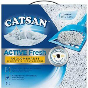 Animalerie CATSAN – Litière Active Fresh pour Chat 5L – Lot De 2 – Vendu par Lot