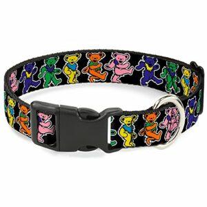 Buckle-Down Bears Collier à Clip en Plastique Noir/Multicolore Taille S 15,2-22,9 cm
