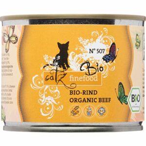 catz finefood Nourriture pour Chat Bio – N° 507 – Nourriture Humide pour Chat – 6 x 200 g – sans céréales ni Sucre ajouté (1,2 kg)