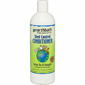 EarthBath All Natural Green Tea Conditioner Shed Control for Pets Dogs Cats 16z
