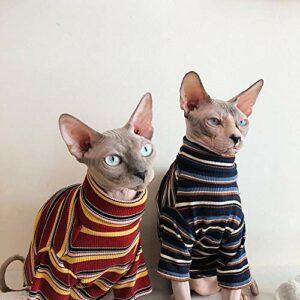 HCYD Vêtements pour Chats Sphinx Vêtements pour Chats sans Poils Fournitures pour Animaux XXL