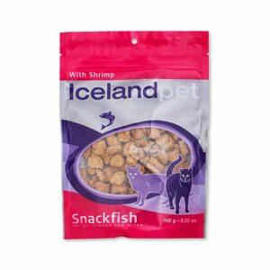 Iceland Pet – Friandises aux Crevettes pour Chat – 4 x 100 g