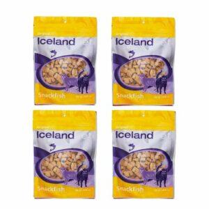 Iceland Pet Original Snackfish – Friandises Poissons pour Chat – 4 x 100 g