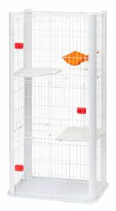 Iris Ohyama, Cage pour Chat sur 3 étages – Cat Condo – CSC1-3, blanc, 18,5 kg, 91 x 50 x 170 cm