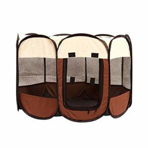 KEHUITONG PSWK Tente Portable Grands Petits Chiens de Petit Chien Cage de Chiens en Plein air Maisons pour PLAYPEN PLAYPEN PULCHPY Chat Chat Pet Dog Char Room (Color : Coffee, Size : 91x91x58cm)