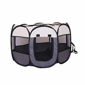KEHUITONG PSWK Tente Portable Grands Petits Chiens de Petit Chien Cage de Chiens en Plein air Maisons pour PLAYPEN PLAYPEN PULCHPY Chat Chat Pet Dog Char Room (Color : Gray, Size : 74x74x43cm)