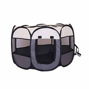 KEHUITONG PSWK Tente Portable Grands Petits Chiens de Petit Chien Cage de Chiens en Plein air Maisons pour PLAYPEN PLAYPEN PULCHPY Chat Chat Pet Dog Char Room (Color : Gray, Size : 91x91x58cm)
