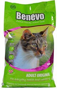 Lot de 4Doublure végétalien–Cat de chat 10kg Benevo
