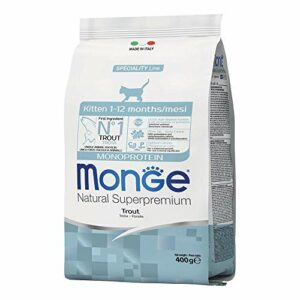 Natural Superpremium Monoprotein Kitten – Dry Food Trout 1,5kg