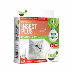 Naturlys NATURLY'S – Pipettes Insect Plus Chat et Chaton Bio x 3
