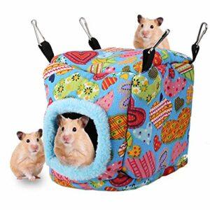 Nid D'oiseau en Peluche Chaud Suspendu Hamster Grotte Hamac Oiseaux de Compagnie Cage d'hiver pour Perroquets Cochons Néerlandais Cockatiels