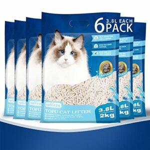 Nobleza Litière pour Chat Agglomérante et Végétale 3.8 L, litiere Chats sans poussière ni Odeur, biodégradable et Naturelle 6 Paquets