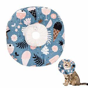 Opopark Collier de Rcupration de Chat Collier de Rcupration Confortable Collerette de Protection Collerette pour Chiens pour Chats Mignon (S, Ice Cream)