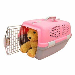 Outils de Transport pour Animaux de Compagnie, Pet Airways Box Vérifié Les Cases Out Cages Transport de Bagages for Chat/Chien et Autres Animaux Petit, Taille: 59 * 38 * 38cm (Color : Pink)