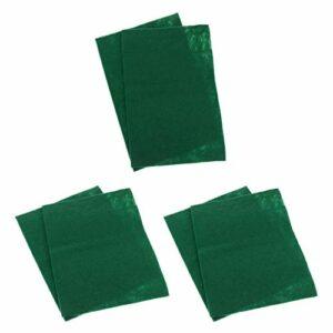 perfk Tapis de Sol Chaud Anti-humidité de Tapis Vert de Cage de Reptile 6 Pièces