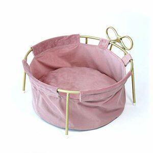 Stella Fella General Kitty Litière pour chat en métal amovible et lavable 45 x 45 x 20 cm (couleur : rose)