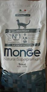 Sterilised Monoprotein – Cat Food with Trout 10 Kg