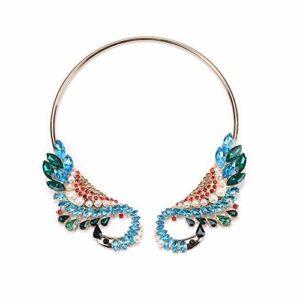 Stzker Rétro Collier Creux en Alliage Diamant De Couleur Luxe Mesdames Vêtements Accessoires (Color : 01)