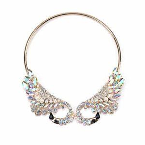 Stzker Rétro Collier Creux en Alliage Diamant De Couleur Luxe Mesdames Vêtements Accessoires (Color : 04)