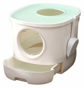 TYUIOO Boîte à litière de chat de type tiroir, toilettes de chat fermées, désodorisant et anti-éclaboussure, scoop de litière de chat gratuit, toilettes pour animaux de compagnie-3 couleurs disponible